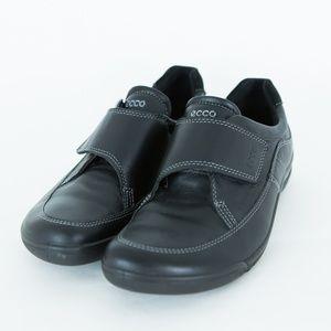 ECCO Black Comfort LOAFERS Flats Velcro 38